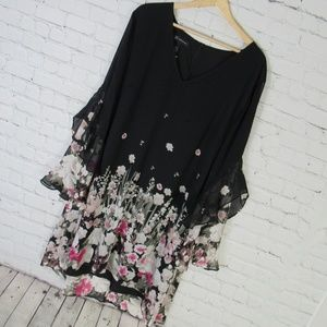 INC International Concepts Dress Womens XXL Black